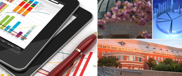 Photo collage of a tablet, Kogan Plaza dome, a pie chart, and VSTC